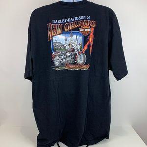 Harley Davidson Black T-Shirt 3XL New Orleans USA